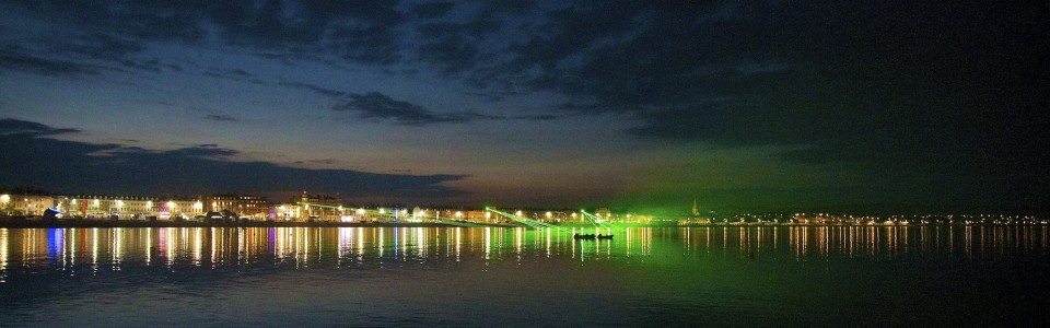 Image of the weymouth seafront laser display